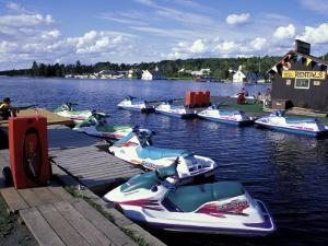 Jet Skis on Moosehead Lake, Northern Forest, Maine, USA by Jerry & Marcy Monkman