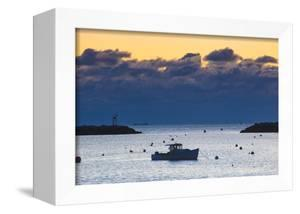 Lobster Boat at Dawn in Rye Harbor, New Hampshire by Jerry & Marcy Monkman