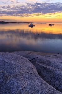 Lobster boats in a harbor in South Thomaston, Maine. by Jerry & Marcy Monkman