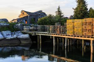 Lobster traps and a ramshackle house in South Thomaston, Maine. by Jerry & Marcy Monkman