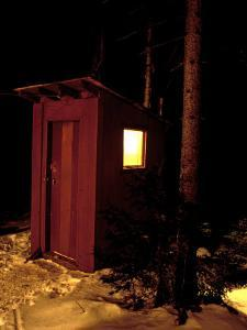 Outhouse at the Sub Sig Outing Club's Dickerman Cabin, New Hampshire, USA by Jerry & Marcy Monkman