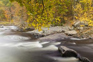 Packers Falls on the Lamprey River in Durham, New Hampshire. Fall by Jerry & Marcy Monkman
