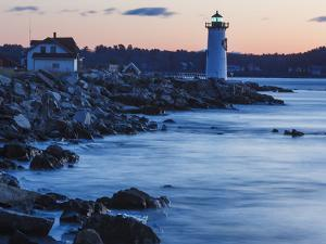 Portsmouth Harbor Lighthouse in New Castle, New Hampshire. Dawn by Jerry & Marcy Monkman