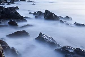 Rocks and Surf at Wallis Sands State Park in Rye, New Hampshire by Jerry & Marcy Monkman