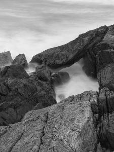 Rocks and surf. Wallis Sands State Park, Rye, New Hampshire. by Jerry & Marcy Monkman