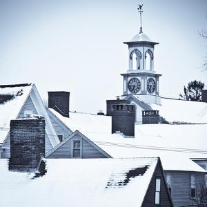 Roof Tops in Winter in Portsmouth New Hampshire's South End by Jerry & Marcy Monkman