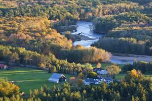 Saco River and the Mt Washington Valley, North Conway, New Hampshire by Jerry & Marcy Monkman