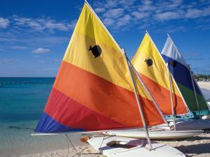 Sailboats on the Beach at Princess Cays, Bahamas by Jerry & Marcy Monkman