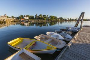 Skiffs at the town docks in Jonesport, Maine. by Jerry & Marcy Monkman