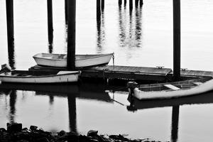 Skiffs in Rye Harbor, New Hampshire by Jerry & Marcy Monkman