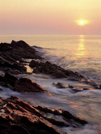 Sunrise from 'Marginal Way', Maine, USA