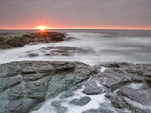 Sunrise Near Brenton Point State Park on Ocean Road in Newport, Rhode Island, Usa by Jerry & Marcy Monkman