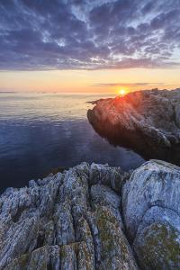 Sunrise on Appledore Island in the Isles of Shoals, New Hampshire. by Jerry & Marcy Monkman