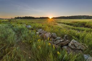 Sunrise over the salt marsh along the Essex River, Essex, Massachusetts. by Jerry & Marcy Monkman