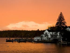 Sunset in Wolfeboro, New Hampshire, USA by Jerry & Marcy Monkman