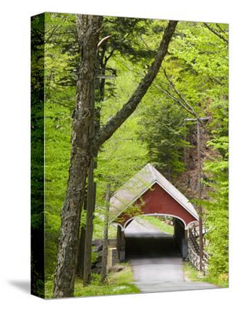 The Flume Covered Bridge, Pemigewasset River, Franconia Notch State Park, New Hampshire, USA