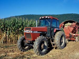 Tractor and Corn Field in Litchfield Hills, Connecticut, USA by Jerry & Marcy Monkman
