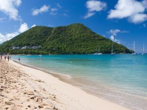View from Reduit Beach, St. Lucia, Caribbean by Jerry & Marcy Monkman