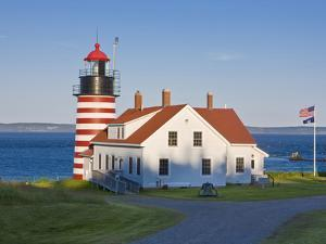 West Quoddy Head Light at Quoddy Head State Park in Lubec, Maine, Easternmost Point of Usa by Jerry & Marcy Monkman