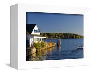 Wolfeboro Dockside Grille on Lake Winnipesauke, Wolfeboro, New Hampshire, USA by Jerry & Marcy Monkman