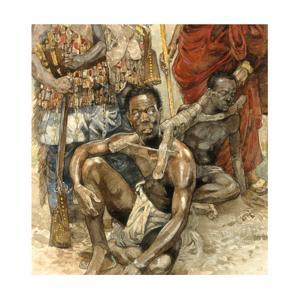 Legendary Denkyira Warrior, Owusu Mensa, Captured for Slavery by Jerry Pinkney
