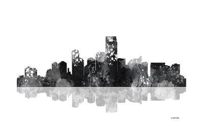 Jersey City New Jersey Skyline BG 1-Marlene Watson-Giclee Print