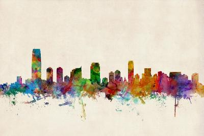 Jersey City New Jersey Skyline-Michael Tompsett-Art Print