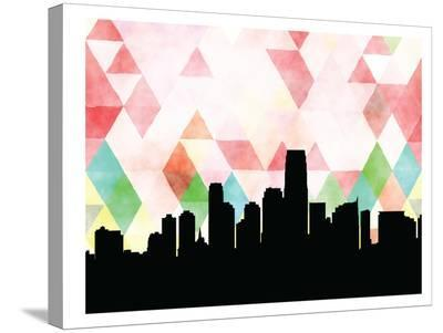 Jersey City Triangle-Paperfinch 0-Stretched Canvas Print