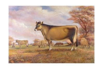 Jersey Cow-Dudley Pout-Giclee Print