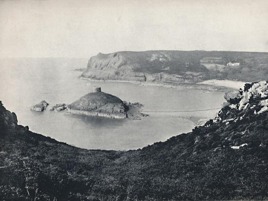 'Jersey - Portelet Bay and Janvrin Island', 1895-Unknown-Photographic Print