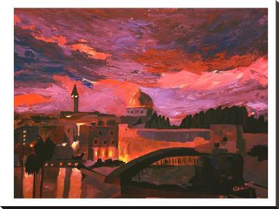 Jerusalem 2-M Bleichner-Stretched Canvas Print