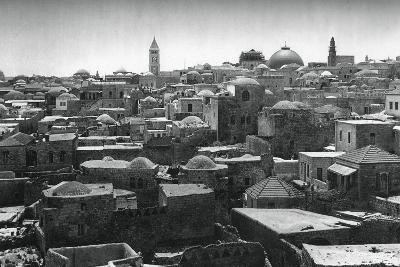 Jerusalem and Dome of the Church of the Holy Sepulchre, 1937-Martin Hurlimann-Giclee Print