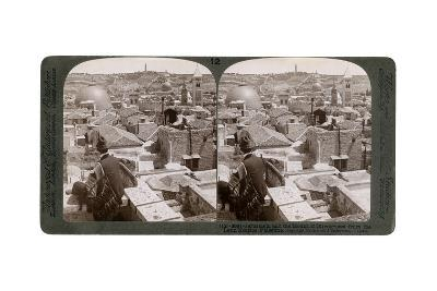 Jerusalem and the Mount of Olives, Looking East from the Latin Hospice, Palestine, 1900s-Underwood & Underwood-Giclee Print