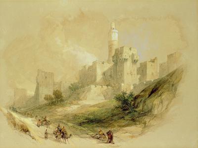 Jerusalem and the Tower of David-David Roberts-Giclee Print