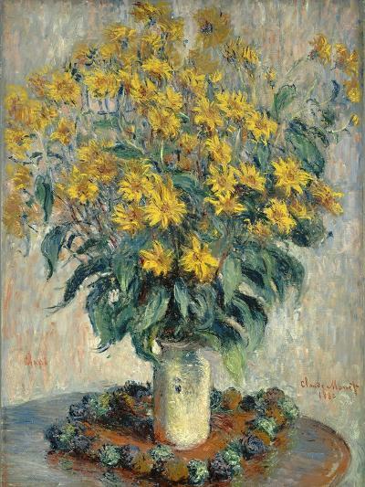 Jerusalem Artichoke Flowers, 1880-Claude Monet-Giclee Print