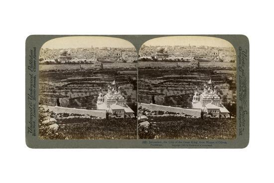 Jerusalem, as Seen from the Mount of Olives, Palestine, 1901-Underwood & Underwood-Giclee Print