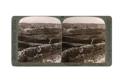 Jerusalem, as Seen from the South-East, Showing the Site of the Temple, Palestine, 1900s-Underwood & Underwood-Giclee Print