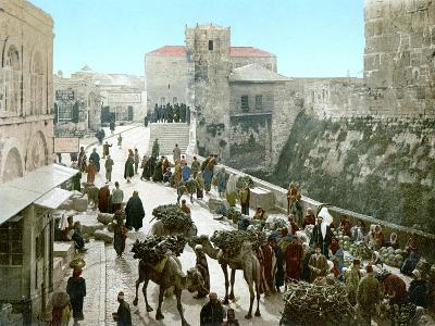 Jerusalem: Bazaar, C1900--Photographic Print
