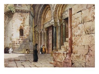 Jerusalem: Entrance to the Church of the Holy Sepulchre--Giclee Print