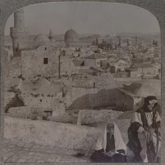 'Jerusalem from School over mosque, showing Tower of Antonio', c1900-Unknown-Photographic Print