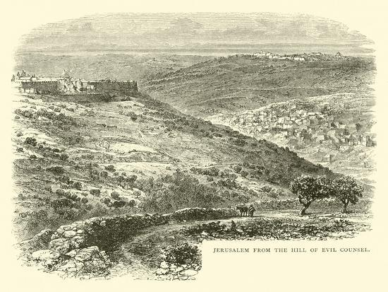 Jerusalem from the Hill of Evil Counsel--Giclee Print