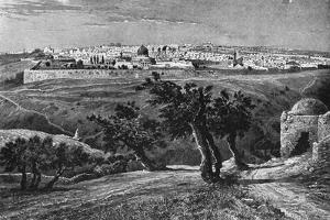 Jerusalem, from the Mount of Olives, 1902