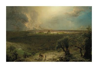 Jerusalem from the Mount of Olives-Frederic Edwin Church-Premium Giclee Print