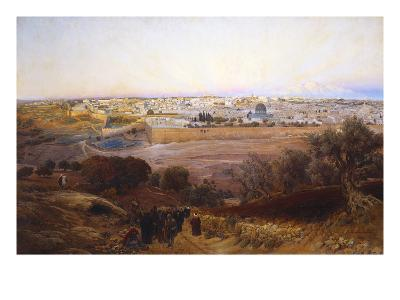 Jerusalem from the Mount of Olives-Gustav Bauernfeind-Giclee Print
