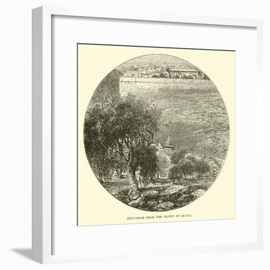 Jerusalem from the Mount of Olives--Framed Giclee Print