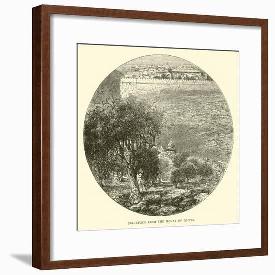 Jerusalem from the Mount of Olives--Framed Giclee Print
