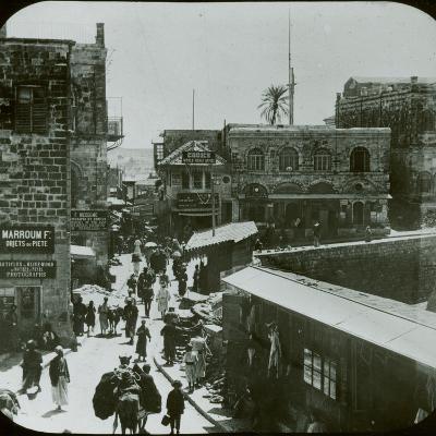 Jerusalem, Inside the Jaffa Gate, C.1880--Photographic Print
