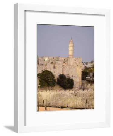 Jerusalem, Israel, View of Jaffe Gate and David's Tower from King David Hotel-Richard Nowitz-Framed Photographic Print