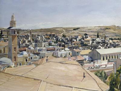 Jerusalem, Looking to Mount Scopus-David Bomberg-Giclee Print