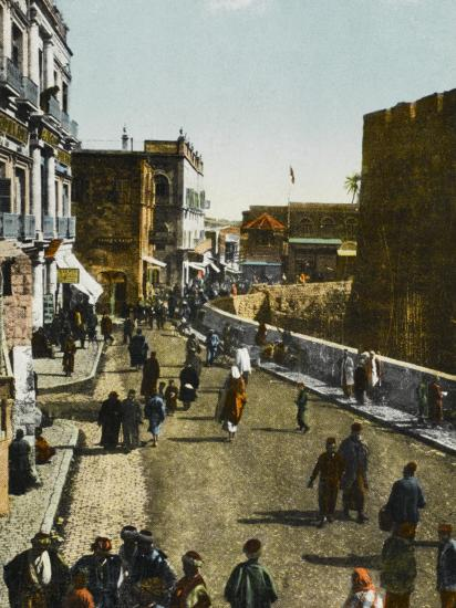 Jerusalem: Street Inside the Jaffa Gate Photographic Print by | Art com